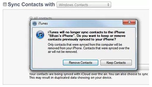 Cách xóa danh bạ trên iPhone bằng iTunes