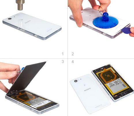 Quy trình thay màn hình Sony Z3