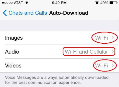 Lưu dữ liệu để khôi phục WhatsApp trên iPhone