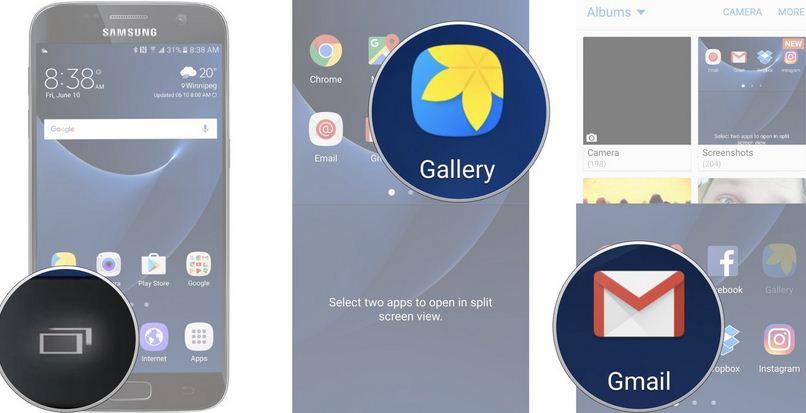 Chia đôi màn hình Samsung Galaxy S7 Edge đơn giản
