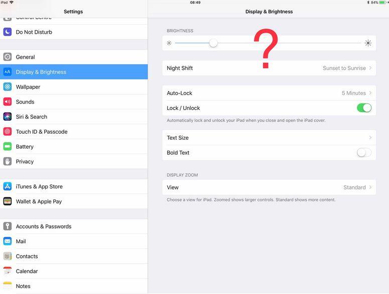 Bật tắt chế độ sáng tự động trên iOS 11