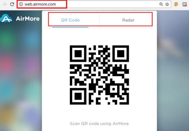 Quét mã QC để chấp nhận cho Samsung kết nối với máy tính