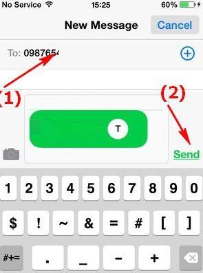 Gửi số điện thoại qua tin nhắn iPhone