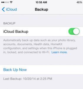 Backup tin nhắn iPhone với iCloud