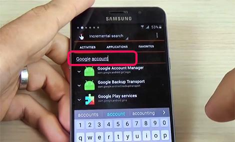 cách xóa xác minh tài khoản Google Samsung