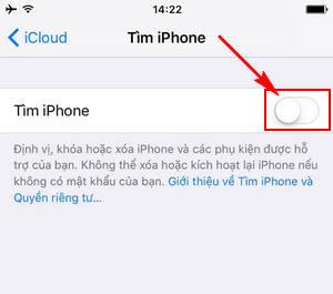 Bật/tắt định vị trên iPhone 6
