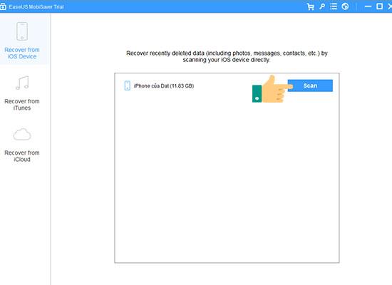 Cách lấy lại dữ liệu đã xóa trên iPhone