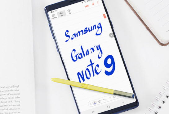 samsung note 9 soc man hinh