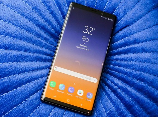 samsung note 9 hong cam ung