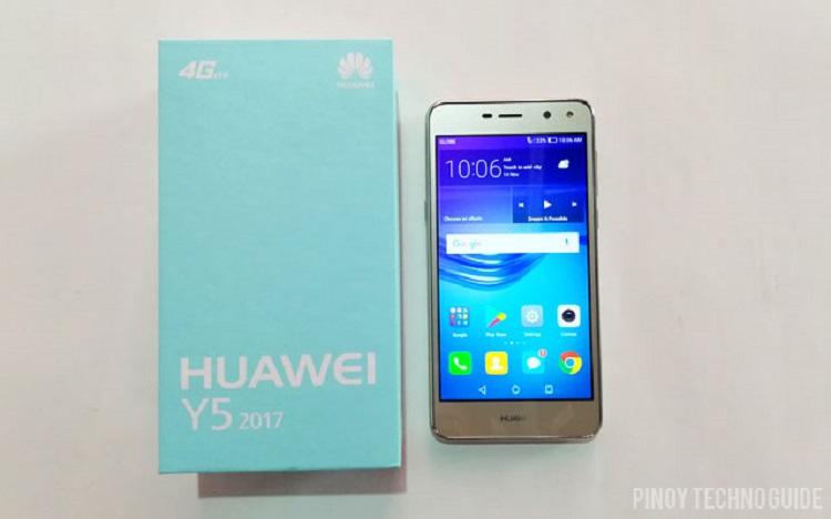 Đập hộp Huawei Y5 2017 gold