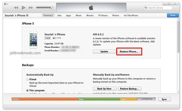 Khôi phục cài đặt gốc iPhone 7 Plus