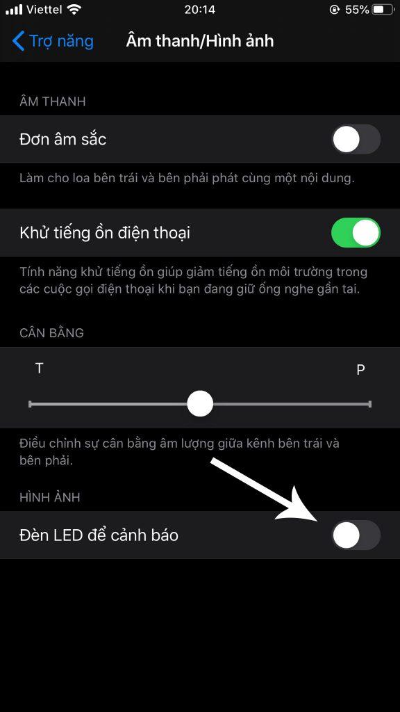 bật Flash cho iPhone 8 plus