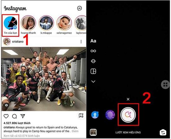 Tìm lại hiệu ứng Instagram