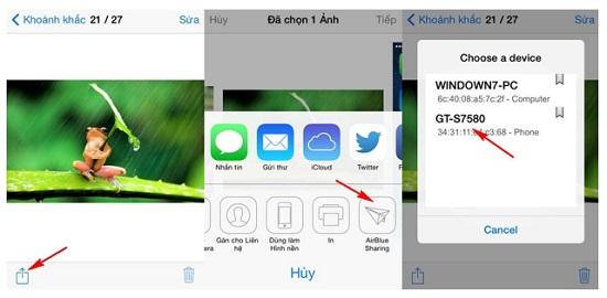 Bắn Bluetooth từ iPhone qua Android