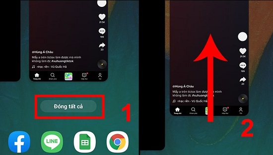 Đóng ứng dụng chạy ngầm trên Samsung A72
